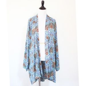 Band of Gypsies Boho Print Open Front Duster M